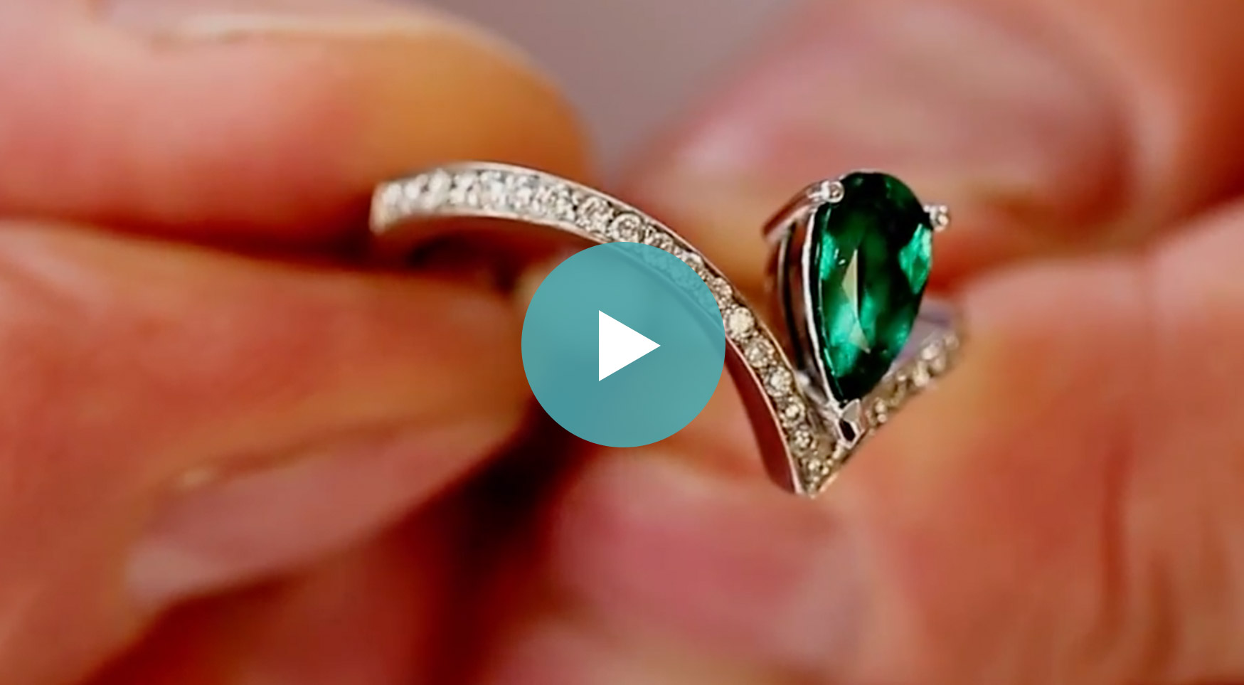 Dark Green Colombian Emeralds on a White Background