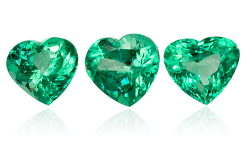 earrings emerald heart damor diamond india in shaped gdfes