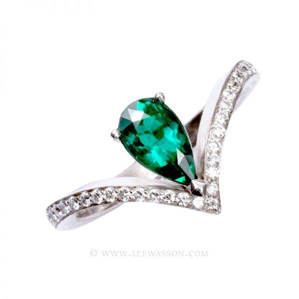 [:en]Lee Wasson´s 19598 Colombian Emerald White Gold Ring[:es]Lee Wasson 19598 Anillo Esmeralda Colombiana Oro Blanco
