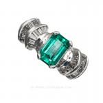 Colombian Emerald Ring, Cut Emerald, Over 1.00 Carat, leewasson.com - 19599 - 1