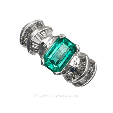 Colombian Emerald Ring, Cut Emerald, Over 1.00 Carat, leewasson.com - 19599 - 1
