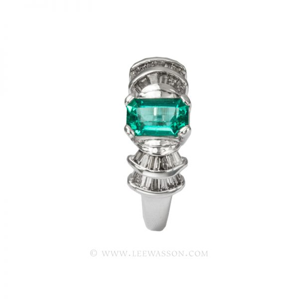 Colombian Emerald Ring, Cut Emerald, Over 1.00 Carat, leewasson.com - 19599 - 2