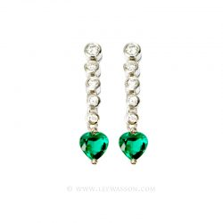 Colombian Emerald Earrings 19443