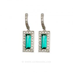 Colombian Emerald Earrings 19450