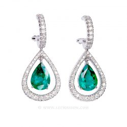 Colombian Emerald Earrings 19501