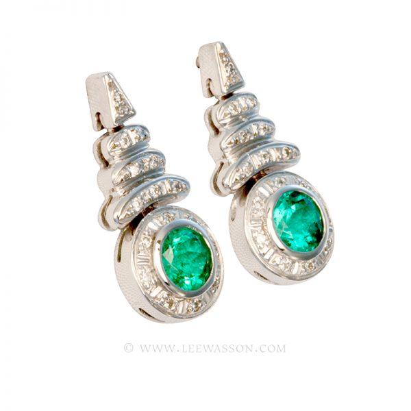 [:en]Lee Wasson´s 19524 White Gold Earring[:es]Lee Wasson 19524 Arete Oro Blanco Anillo Oro Blanco
