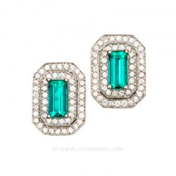 Colombian Emerald Earrings 19549
