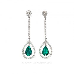 Colombian Emerald Earrings 19555