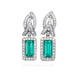 Colombian Emerald Earrings 19605