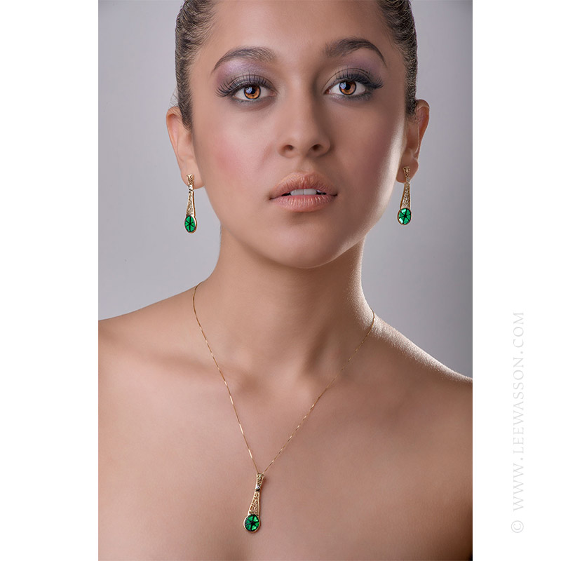 [:en]Lee Wasson´s 19606 Colombian Emerald Trapiche Yellow Gold Earrings[:es]Lee Wasson 19606 Aretes Trapiche Esmeralda Colombiana Oro Amarillo