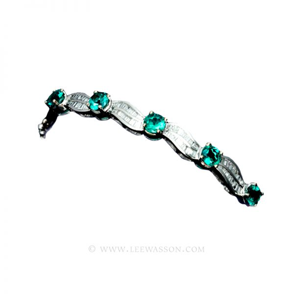 Colombian Emerald, Bracelet, White Gold