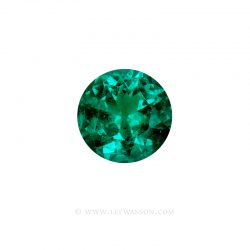 Colombian Emeralds, Round Brilliant cut Emeralds, Emeralds set in 18k White Gold - leewasson.com - 10064