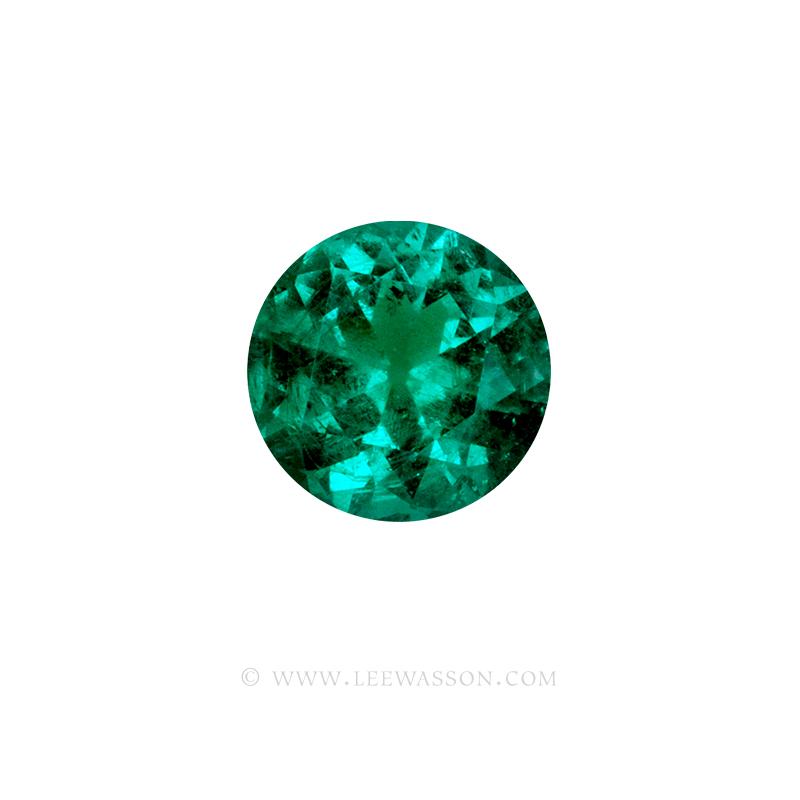 Colombian Emeralds, Round Brilliant Cut Emerald, Approx. 2.00 Carat Sparkling Muzo Mine Emerald. Leewasson.com -10064 -2
