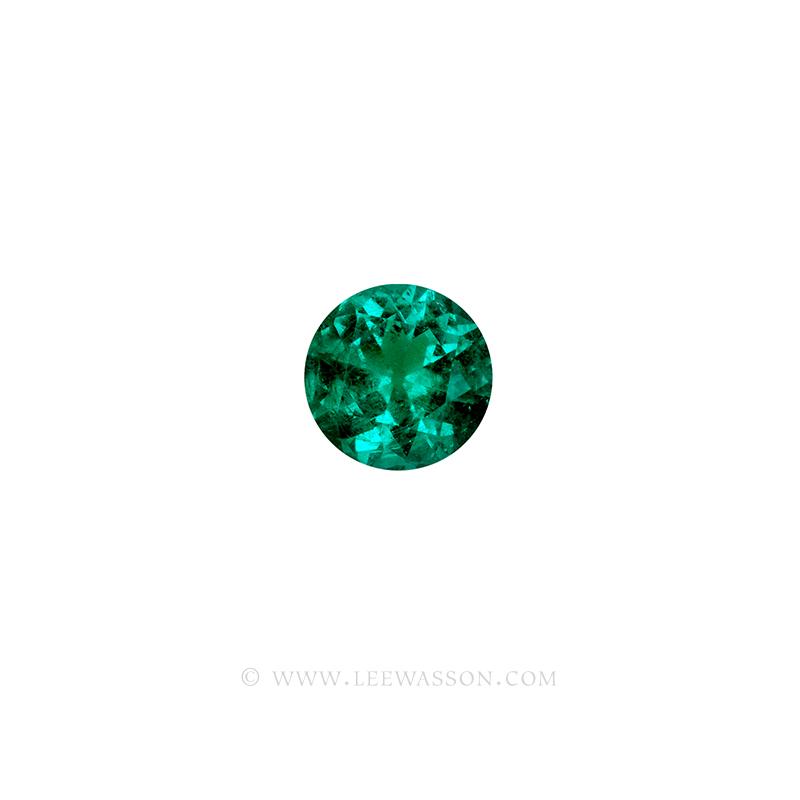 Colombian Emeralds, Round Brilliant Cut Emerald, Approx. 2.00 Carat Sparkling Muzo Mine Emerald. Leewasson.com -10064 -1