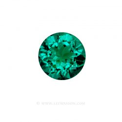 Colombian Emeralds, Round Brilliant cut Emeralds, Emeralds set in 18k White Gold - leewasson.com - 10063