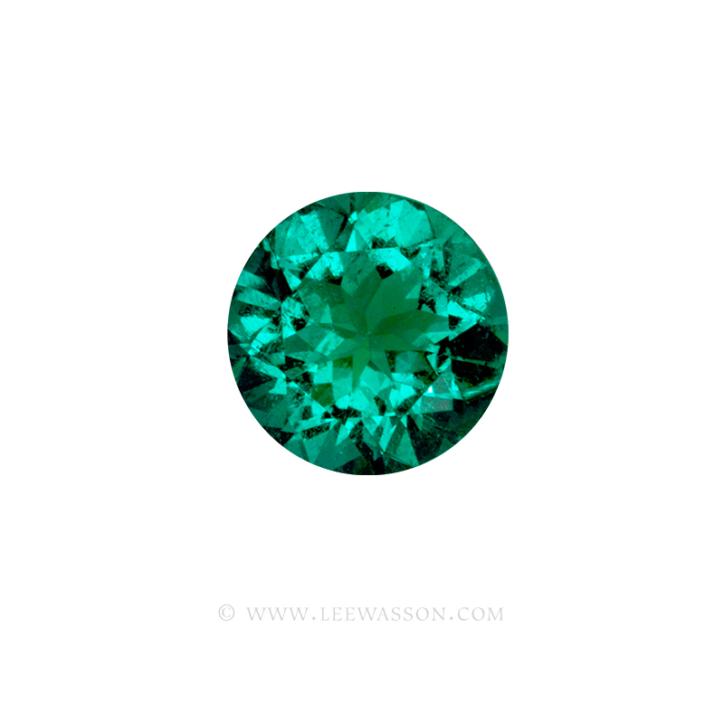 Colombian Emeralds, Over 5.00 Carats of Bluish Green Round Brilliant Cut Emerald From The Mine of Chivor. leewasson.com - 2