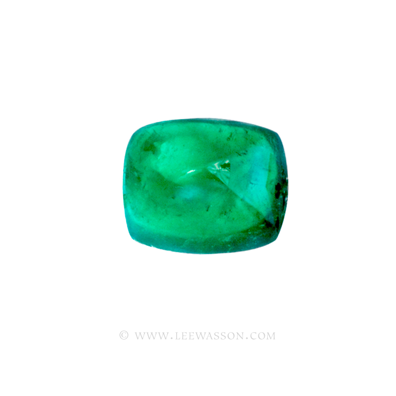 Colombian Emeralds, Sugarloaf cut Emeralds, Cabochon Cut Emeralds - leewasson.com - 10050 - 2