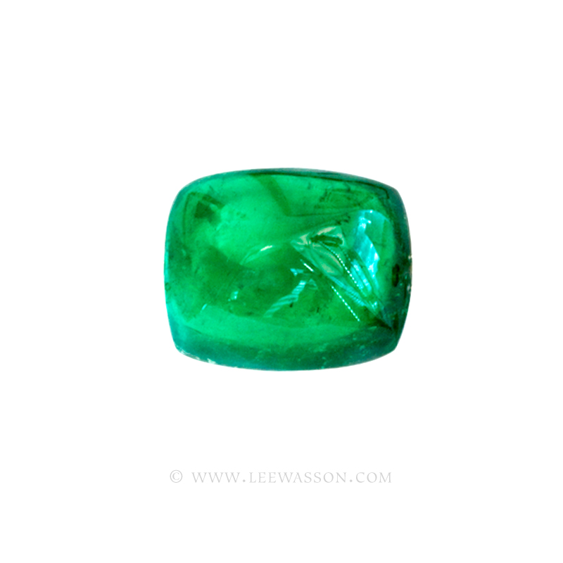 Colombian Emeralds, Sugarloaf cut Emeralds, Cabochon Cut Emeralds - leewasson.com - 10050 - 3