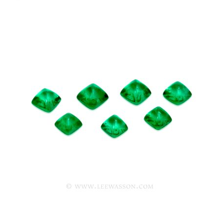 Colombian Emeralds, Sugarloaf cut Emeralds, Cabochon Cut Emeralds - leewasson.com - 10052 -1