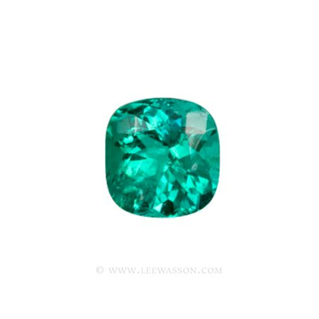 Colombian Emeralds, Cushion Cut Emeralds - leewasson.com - 10013 - 1