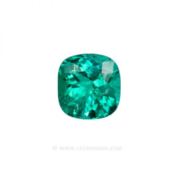 Colombian Emeralds, Cushion Cut Emeralds. leewasson.com -10013 - 1