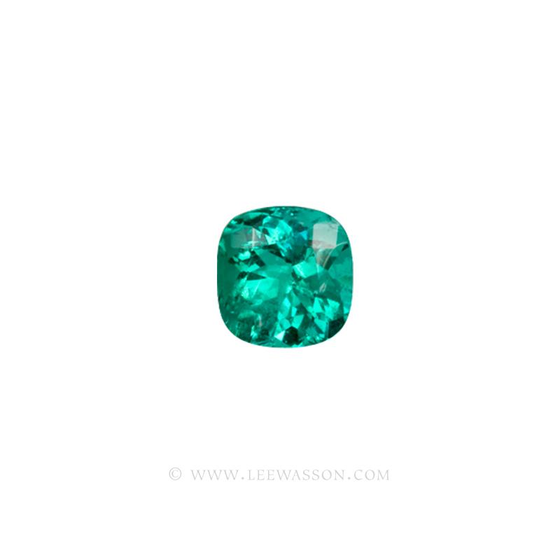 Colombian Emeralds, Cushion Cut Emeralds - leewasson.com - 10013 - 2