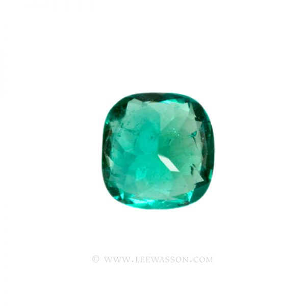 Colombian Emeralds, Cushion Cut Emeralds - leewasson.com - 10013 - 4