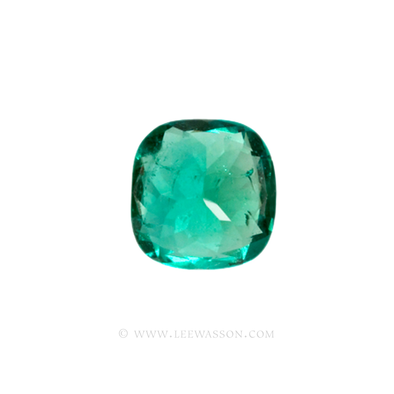 Colombian Emeralds, Cushion Cut Emeralds - leewasson.com - 10013 - 4