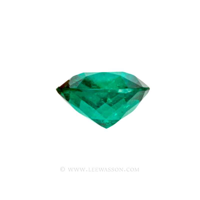 Colombian Emeralds Cushion Cut and set in 18k White Gold - leewasson.com - 10014 - 3