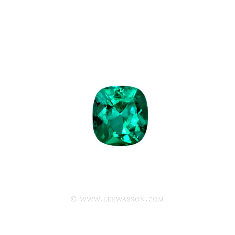 Colombian Emeralds, Cushion Cut Emeralds, Exactly 3.00 Carats. leewasson.com 10017 - 1