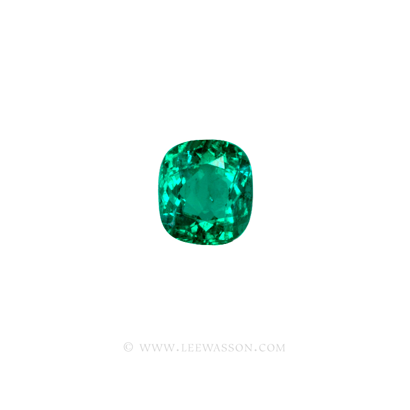 Colombian Emeralds, Cushion Cut Emeralds, Coscuez Mine, Over 3.00 Carats. leewasson.com -10018 - 2