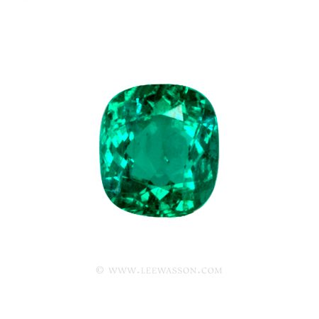 Colombian Emeralds, Cushion Cut Emeralds, Coscuez Mine, Over 3.00 Carats. leewasson.com -10018 - 1