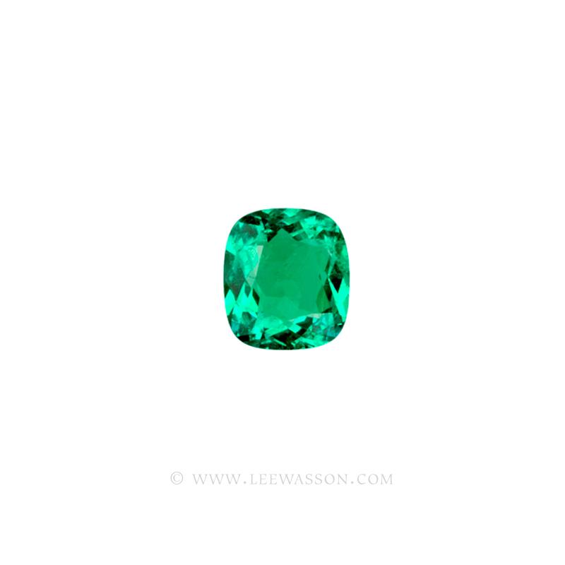 Colombian Emeralds, Cushion Cut Emeralds - leewasson.com - 10019 - 2