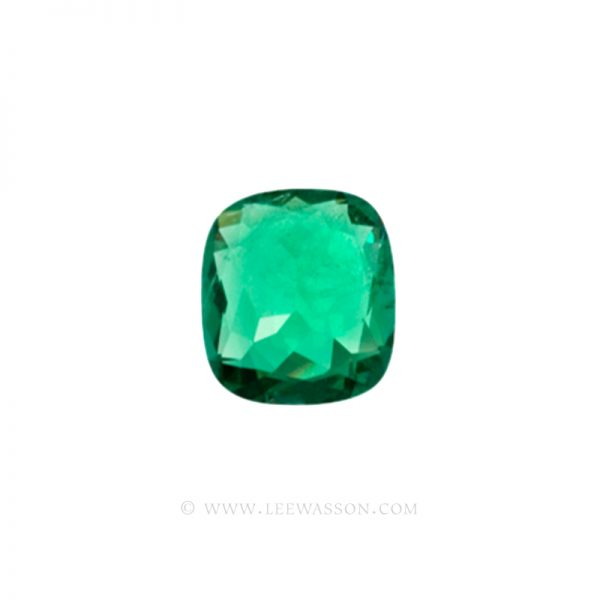 Colombian Emeralds, Cushion Cut Emeralds - leewasson.com - 10019 - 3