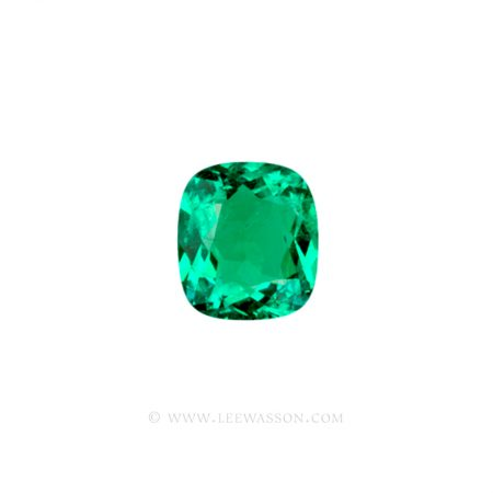Colombian Emeralds, Cushion Cut Emeralds - leewasson.com - 10019 - 1