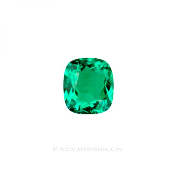 Colombian Emeralds, Cushion Cut Emeralds, Coscuez Mine, Over 3.00 Carats. leewasson.com -10019 - 1