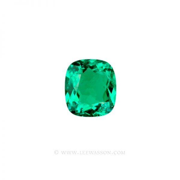 Colombian Emeralds, Cushion Cut Emeralds - leewasson.com - 1 - 10019