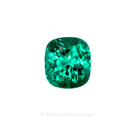 Colombian Emeralds, Cushion Cut Emeralds - leewasson.com - 10021 - 1