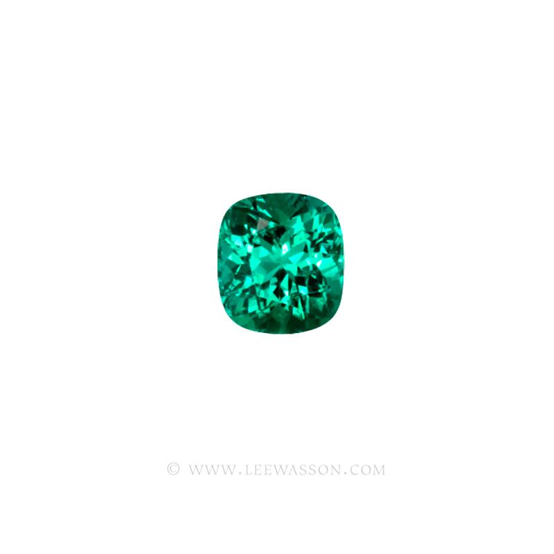 Colombian Emeralds, Cushion Cut Emeralds - leewasson.com - 10021 - 2