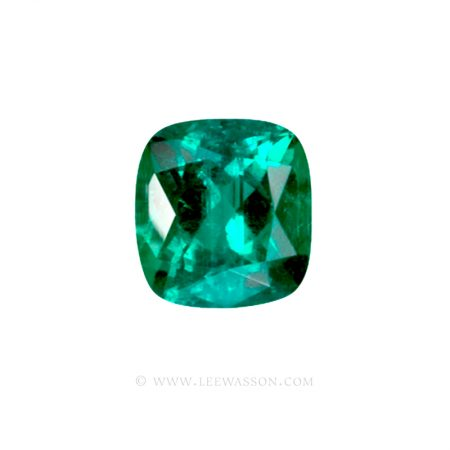 Colombian Emeralds, Cushion Cut Emeralds - leewasson.com - 10028 - 1