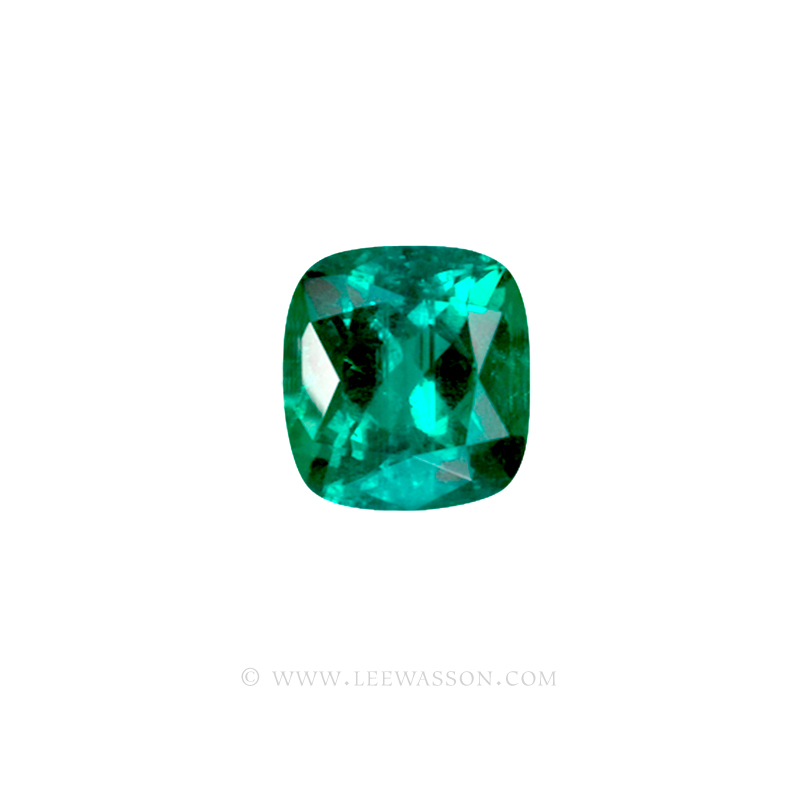 Colombian Emeralds, Cushion Cut Emeralds - leewasson.com - 10028 - 2