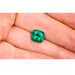Colombian Emeralds, Cushion Cut Emeralds - leewasson.com - 10028 - 3