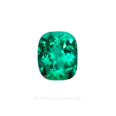 Colombian Emeralds, Cushion Cut Emeralds - leewasson.com - 10029 -1