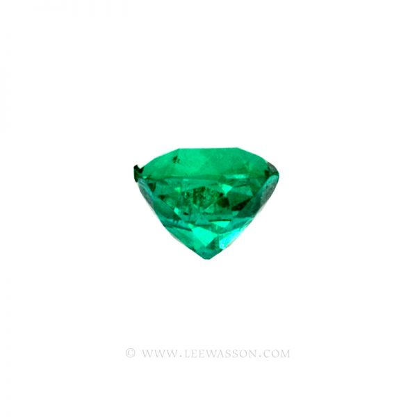 Colombian Emeralds, Cushion Cut Emeralds - leewasson.com - 2- side view - 10029