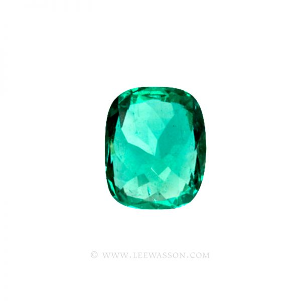 Colombian Emeralds, Cushion Cut Emeralds - leewasson.com - 10029 - 7