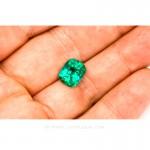 Colombian Emeralds, Cushion Cut Emeralds - leewasson.com - 10029 - 9
