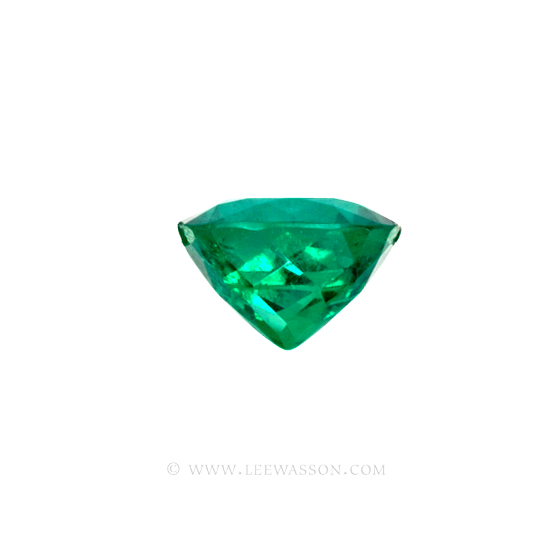 Colombian Emeralds, Cushion Cut Emeralds and set in 18k White Gold - leewasson.com - 10042 - 4