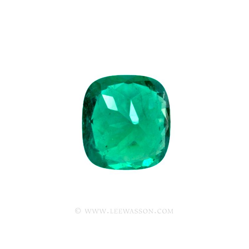 Colombian Emeralds, Cushion Cut Emeralds and set in 18k White Gold - leewasson.com - 1 - 10042