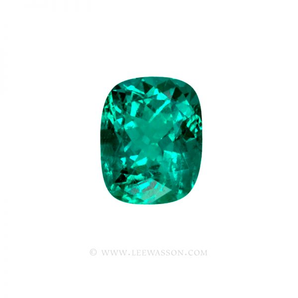 Colombian Emeralds, Cushion Cut Emeralds, Over 10.00 Carats. leewasson.com -10043 -1
