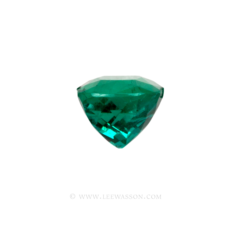Colombian Emeralds Cushion Cut and set in 18k White Gold - leewasson.com - 10043 - 2